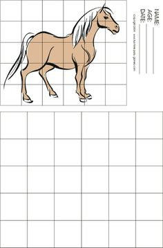Horse grid drawing