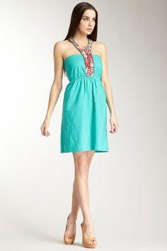 Embroidered Halter Strap Dress