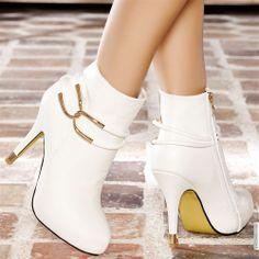 Bottines femme Blanc taille 38, achat en ligne Bottines femme sur MODATOI