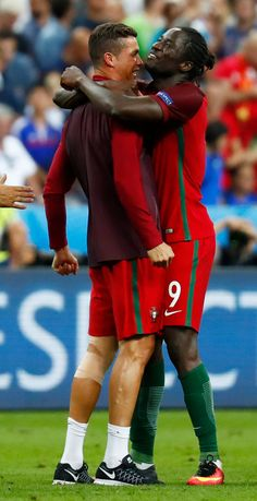 Cristiano Ronaldo and goal hero Eder celebrate as Portugal win Euro 2016