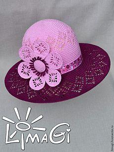 """Шляпа """"Джеральдина"""" - шляпа с большими полями,шляпа летняя,шляпа вязаная"""