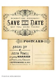 I like the old fashioned look of these invitations