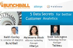 Keith Conley of Bunchball will teach you how they worked with Alteryx and Tableau to improve analytics. You will learn 5 secrets of data preparation to establish a process for easy analytics and insights and how to better present analytic results visually. Read more ›