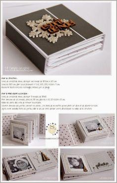 Simply graphic: a mini and a tuto! Mini Album Scrap, Mini Albums Scrapbook, Baby Scrapbook, Scrapbook Paper Crafts, Minis, Paper Bag Album, Diy Crafts For Girls, Mini Album Tutorial, Handmade Books