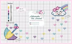 Cross Stitch For Kids, Cross Stitch Baby, Cross Stitch Alphabet Patterns, Anchor Pattern, Baby Supplies, Hand Embroidery Patterns, Baby Crafts, Hama Beads, Cross Stitching