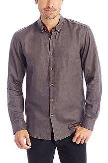 Boss black slim fit dress shirt