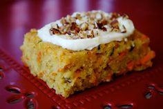 Carrot & Zucchini Bars with Lemon Cream Cheese Frostin