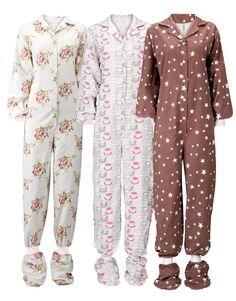 All-In-One-Pyjamas for adults - in Brushed Cotton