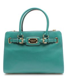Look what I found on #zulily! Deep Sea Green Hamilton East West Leather Tote by MICHAEL Michael Kors #zulilyfinds