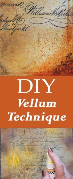 DIY Vellum Technique - Fast and Easy! Gorgeous Crafting Technique for Mixed Media projects or Handmade Cards, Junk Journals too. By Heather Tracy for Graphics Fairy How To Make Labels, Diy Blanket Ladder, Bath Bomb Recipes, Diy Headboards, Graphics Fairy, Valentines Diy, Making Ideas, Art Projects, Easy Diy