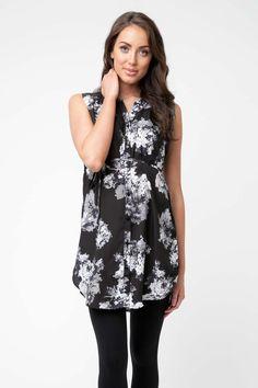 5424fa101 £45.90 - Ripe Maternity Mosaic Floral Nursing Tunic