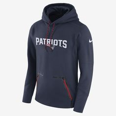 Men s Nike Navy New England Patriots Sideline Player Performance Pullover  Hoodie d669c716b