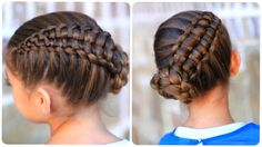 Braid cute gir... Gymnastics Hairstyle Toddler twist hairstyle
