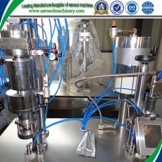 automatic aerosol can filling machine production line     More: https://www.aerosolmachinery.com/sale/automatic-aerosol-can-filling-machine-production-line.html