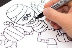 How to Draw Halloween Characters - Zombie - Mummy - Bat - Pumpkin | Kid Scoop