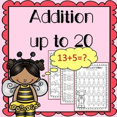 Addition to 20 Worksheets, this is a set of 25 addition to 20 worksheets.These worksheets contain a great variety of activities! Details of worksheets stated below:Adding using a number line x 3Vertical addition with cute characters x 3Horizontal addition x 3Add and color x 3Math Machine worksheets x 2Cut and paste worksheets x 3Word problem worksheets x 3Addition ladders x 2Color by addition x 1Code Cracker x 1 + Answer sheetAll worksheets are no prep printables, so just press print and you ...