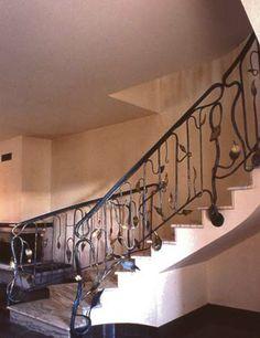 Metal staircase railing by Giuseppe Celeprin