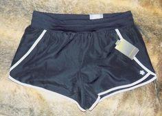15.00$  Buy here - http://viltm.justgood.pw/vig/item.php?t=fbqa3z17772 - Tek Gear Womens L Black White Running Shorts Built in Briefs Athletic Gym NWT 15.00$