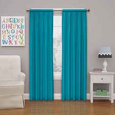 Eclipse Kids Microfiber Room Darkening Window Curtain Pan...