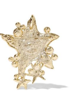 Oscar de la Renta - Sea Star Convertible Gold-plated, Swarovski Crystal And Faux Pearl Necklace - one size