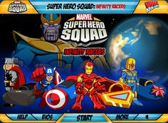 Juego de marvel, donde los Super Heroes como Thor, Ironman, Capitan america estan listo para una carrera de carros y asi salvar el mundo, el malvado esta decidido colocar trampas en el camino, esquiva y se el mejor en estas carreras. Juegos de marvel, capitan america, ironman, thor, carros, carreras, habilidad, heroes