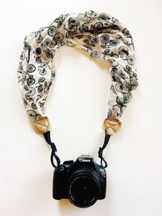 Black and White Bicycle Camera Strap DSLR Scarf by FaithLoveCraft Quotes  About Photography a44689d35b06