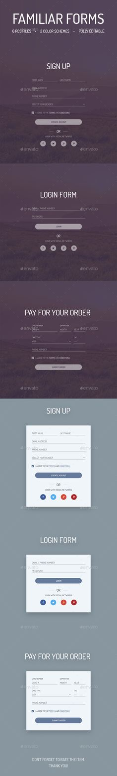 Familiar Forms - Creative Web Forms - #Forms #Web #Elements Download here: https://graphicriver.net/item/familiar-forms-creative-web-forms/14175819?ref=alena994