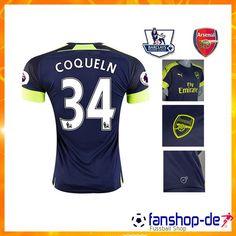 New Arsenal COQUELIN 34 Third Trikot Blau 2016 2017 Fan Shop Kaufen