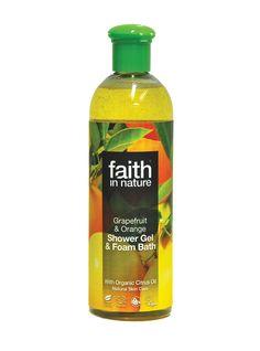 Faith in Nature Grapefruit & Orange Shower Gel & Bath Foam
