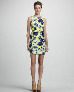 yellow dress neiman marcus discount