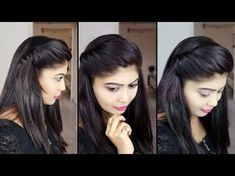 5 Ways to make Perfect Puff Hairstyle. These Puff Hairstyles are easy hairstyles that you can make with your natural hair in 1 minute. Medium Thin Hair, Medium Hair Braids, Easy Hairstyles For Medium Hair, Medium Hair Styles, Side Braid Hairstyles, Quick Hairstyles, Puff Hairstyle, How To Make Hairstyle, Indian Hairstyles
