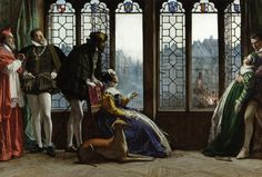 Henry ll of France and Diana of Poitiers – Witnessing the Execution of a Protestant, Alfred Holst Tourrier (Turban Holst Alfred Tourrier), British, 1836–1892