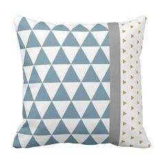 Housse de coussin graphique rectangulaire, triangles et losanges ...