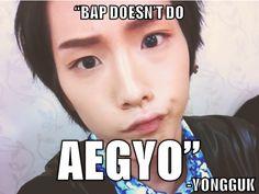 B.A.P - Himchan #Bang Yongguk *cof cof* Yeah, I see *cof cof*
