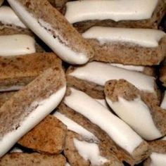 Recept: Ledové tyčinky   iGurmet.cz Thing 1, Christmas Baking, Sausage, Cheesecake, Cookies, Meat, Desserts, Recipes, Food