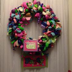 Our birthday wreath! Happy Birthday Month!!