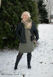 XL Cheap & Chic: Vihreänharmaa neulemekko ja lauantailinkki - Grey ...