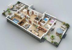 It's a beautiful 3d floor plan