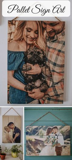 So cool! Have your photo printed directly onto a beautiful pallet made from thick premium wood.  Pallet Sign, Pallet Art, Anniversary Gift, 5th Anniversary, Custom Photo Pallet, Pallet Wall Art, Rustic Home Decor, Picture Frame, Wood #ad