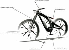 Audi bike design sketch