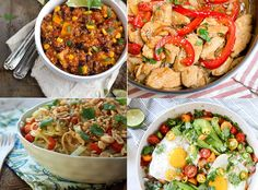 One pot dinners for weight loss - so many ideas!