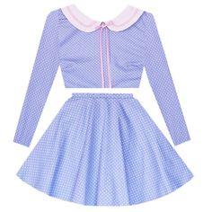 Snow Day Sailor 2 Piece Dress