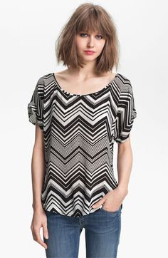 Ella Moss 'Sunstream' Zigzag Stripe Top available at Nordstrom  Love it.