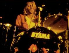 On the drums.<3