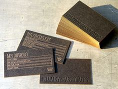 These business cards by Andrew Keir are really wonderful. I love these leather looking (and hopefully feeling) ones. How does it work with a deboss on both sides??