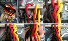 Paracord knot tutorial. I do not know what kind of knot this is but it is interesting.