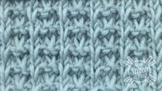 This video knitting tutorial will help you learn how to knit the whelk stitch. This slip stitch pattern creates waffle like textured fabric that is great for men's wear, as well as washcloths and blankets.