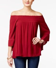 American Rag Off-The-Shoulder Peasant Top, Only at Macy's | macys.com