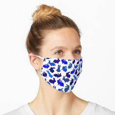 """Bunnies Galore in Blue"" Mask by notsundoku 