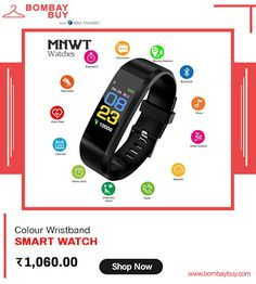 Get the best deals on Multifunction smart bracelet or smart watches with colorful screen leads you to sports and fashion from BombayBuy Shopping   #SmartwatchesOnlineIndia #SmartBraceletOnlineInIndia #WristbandOnlineShoppingInIndia #FashionAccessoriesOnlineInIndia #ColourSmartWatchOnlineIndia #MultifunctionSmartBraceletInIndia #India #FashionAccesories #smartwatch #smartwatchindia #smartwatchesonline #smartwatchfashion #smartwatchandroid Smart Watch Price, Smart Bracelet, Online Fashion Stores, Fitness Tracker, Smartwatch, Fashion Watches, Mobile App, Watches For Men, Fashion Accessories